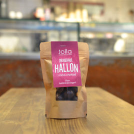DRAGERADE HALLON i mörk choklad